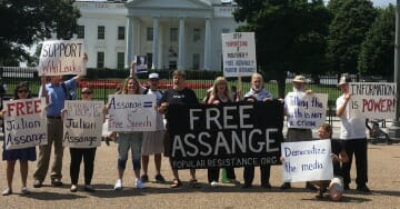 Protests on Sixth Anniversary of Assange Entering the Ecuadorian Embassy Bring People Together From Across the Political Spectrum