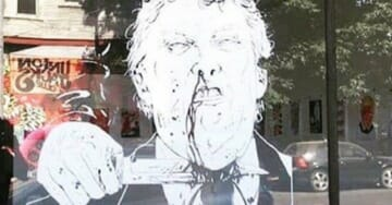 Building Owner Tells Art Gallery to Remove Trump Assassination Porn from Front Window