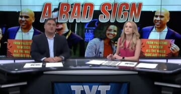 Even The Young Turks Are Accusing Cory Booker Of Lying About Why He Was Holding An Anti-Israel Sign