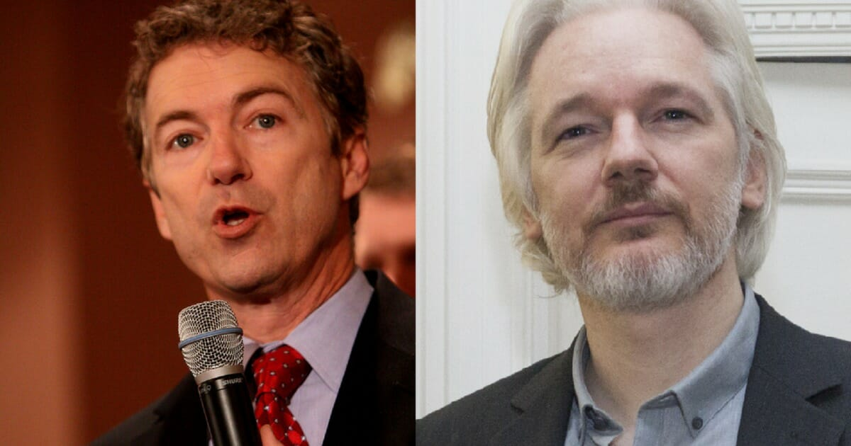 Senator Rand Paul Thinks Julian Assange Should Be Granted Immunity for Testimony