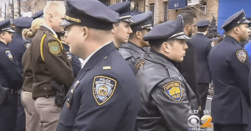 SOLIDARITY: HUNDREDS of NYPD Cops Turn Back on de Blasio in Protest As He Delivers a Eulogy for Slain Officer Miosotis