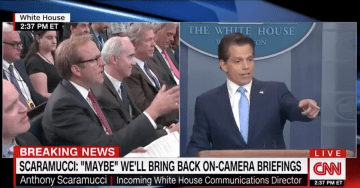 Scaramucci Defends President Trump During First Press Briefing, 'I LOVE the President' (VIDEO)