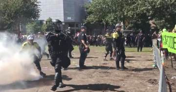 Left-Wing Antifa Terrorists ATTACK Police at Patriot Prayer Rally In Portland (VIDEO)