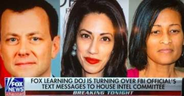 DEVELOPING: DOJ Turning Over Trump-Hater Peter Strzok's Text Messages to House Intel Committee