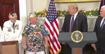 "AMAZING! Veteran Sings ""Remember Pearl Harbor,"" For POTUS Trump At White House Event (VIDEO)"