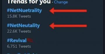 "LOL: Moron Liberals Love ""Net Neutrality"", They Just Don't Know How To Spell It"