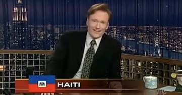 """FLASHBACK: Conan O'Brien Trashes Haiti With """"Burning Pile of Tires"""" Joke In 2005 (VIDEO)"""