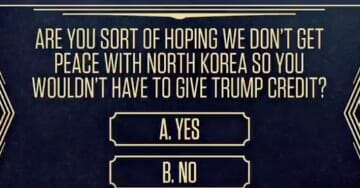 Sick! 71% Of Liberals Don't Want Peace With North Korea Because Trump Would Gain Popularity