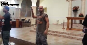 Protesters Crash Catholic Services in Las Vegas – Scream at Churchgoers During Mass (Video)