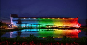 Radical LGBT Activists Mock Christians for Using Rainbow Lights on Massive Noah's Ark Kentucky Attraction