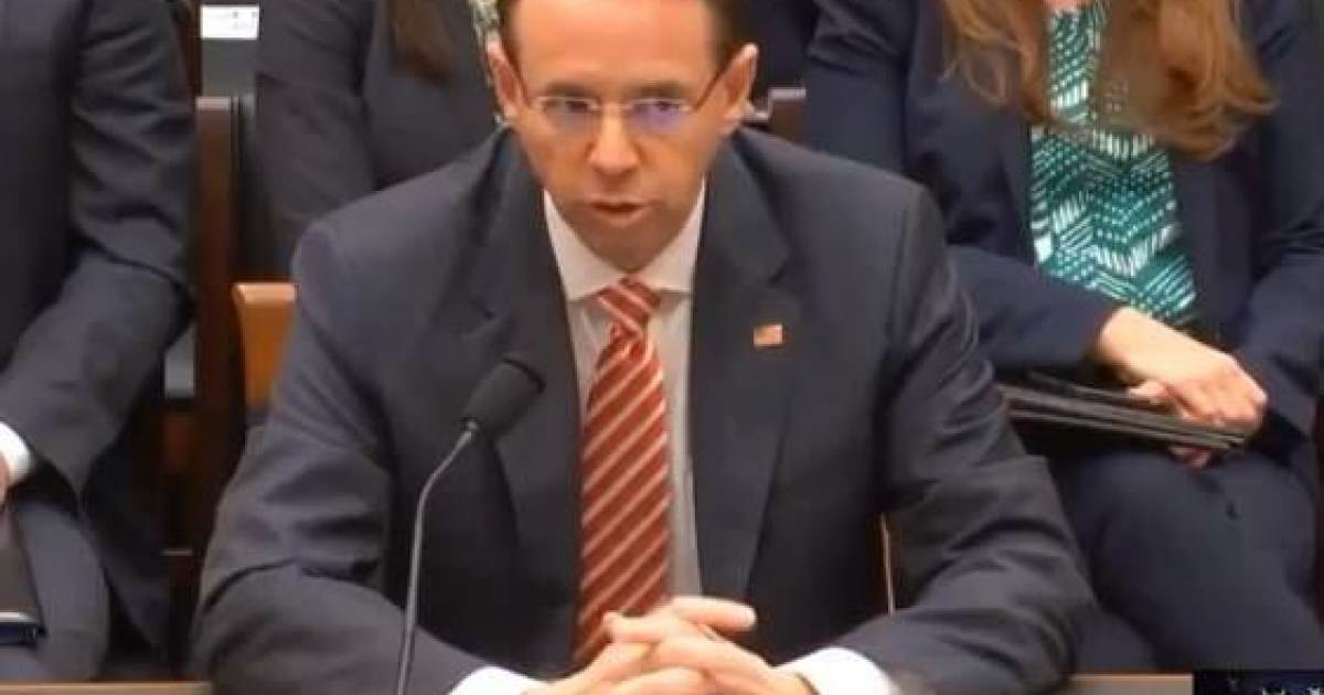 Breaking: Rod Rosenstein Refuses to Turn Over Subpoenaed Memos - Backs Out of Thursday's Congressional Hearing
