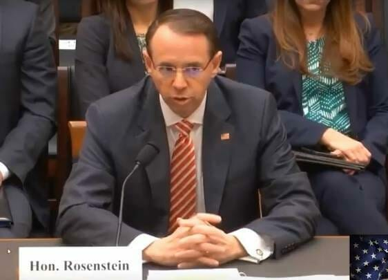 Dirty Cop Rosenstein Tosses Fired FBI Director Comey Under the Bus - Says He Recommended his Firing Due to His Attempts to Influence 2016 Campaign