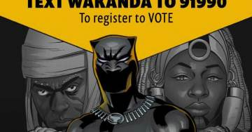 """Radical Black Activist Group That Demands Reparations and 'Economic Justice' Launches Voter Registration Outside """"Black Panther"""" Movie"""