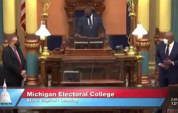 WTH? Michigan Electoral College Proceedings Open With 'Black National Anthem' (VIDEO)