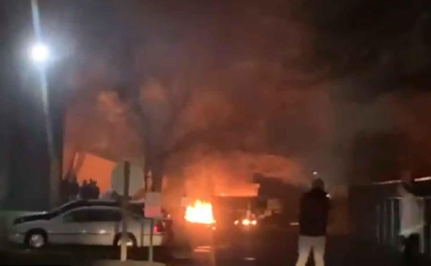 WATCH: Rioters in Minnesota Demand White People Act as Human Shields During Attack on Police Station