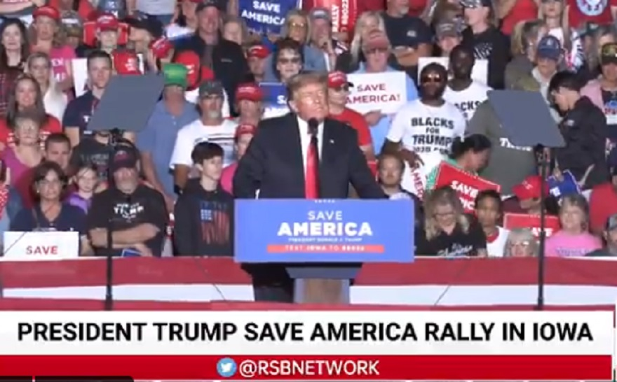 WATCH: Trump Rips Rep. Ilhan Omar at Iowa Rally for Marrying Her Brother