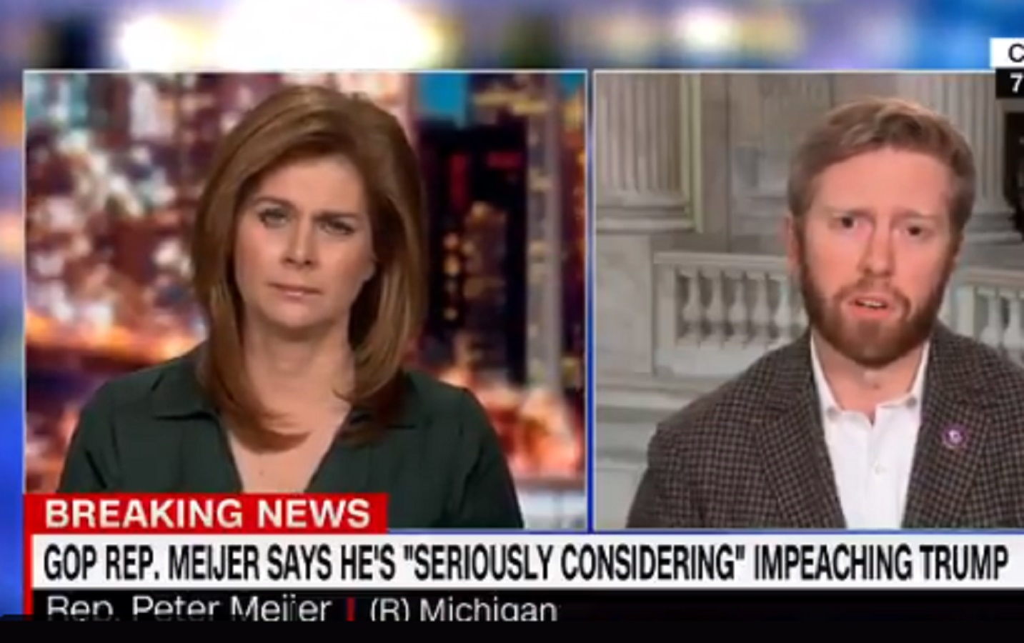 Freshman GOP Rep. Who Replaced Justin Amash Already Betraying His Voters, Says He's 'Strongly Considering' Voting for Impeachment