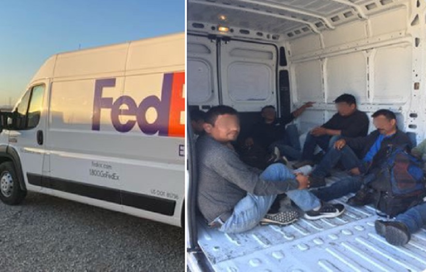 Eight Illegal Aliens Busted By Border Patrol in Fake FedEx Truck