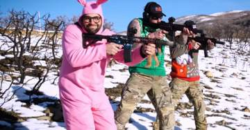 Watch the Guys From Black Rifle Coffee Play Christmas Songs With Guns