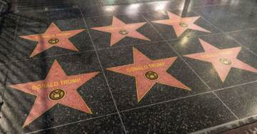 STAR WARS! 30 NEW TRUMP STARS Pop Up on Hollywood Walk of Fame (VIDEO)