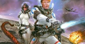 'Trump's Space Force' Comic Book Aims to Reach 'Underserved' Right Wing Audience, Raises 300% of Funding Goal
