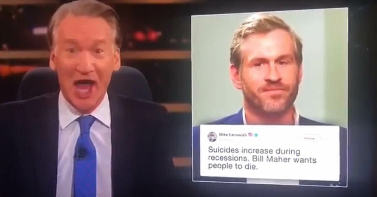 Bill Maher Jokes That He Wants Mike Cernovich to Die VIDEO