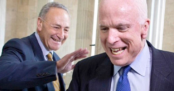 Schumer to Re-Introduce Bill to Rename Senate Office After Warmonger John McCain