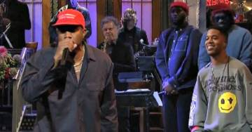 WATCH: Kanye West Rocks MAGA Hat on SNL Season Premiere, Refers to it as His 'Superman Cape'