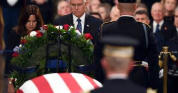 WATCH: Vice President Mike Pence Gives Moving Speech Honoring George H.W. Bush