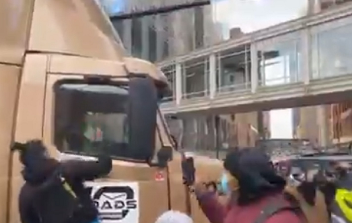 WATCH: Black Lives Matter Mob Attacks Truck, Just Minutes After Getting the Verdict They Wanted