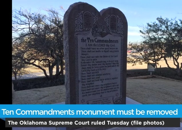 OK Supreme Court Rules 10 Commandments Monument Must Be Removed From State Capitol – Satanic Statue Still in Works