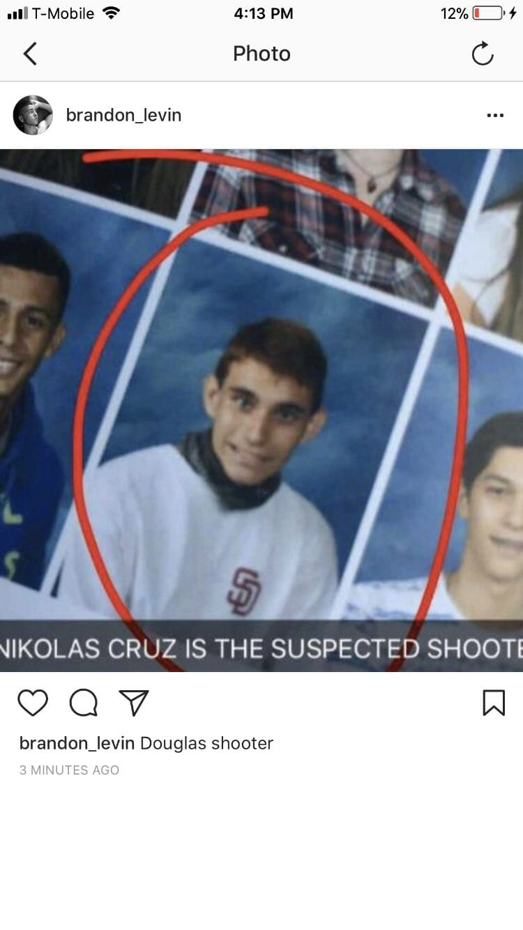 photo image BREAKING=> THE DERANGED INSTAGRAM ACCOUNTS OF FL. SHOOTER NICHOLAS CRUZ