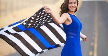 UC Davis Student Group Attacks Murdered Police Officer, Says Blue Lives Matter Flag She Posed With is 'Racist'