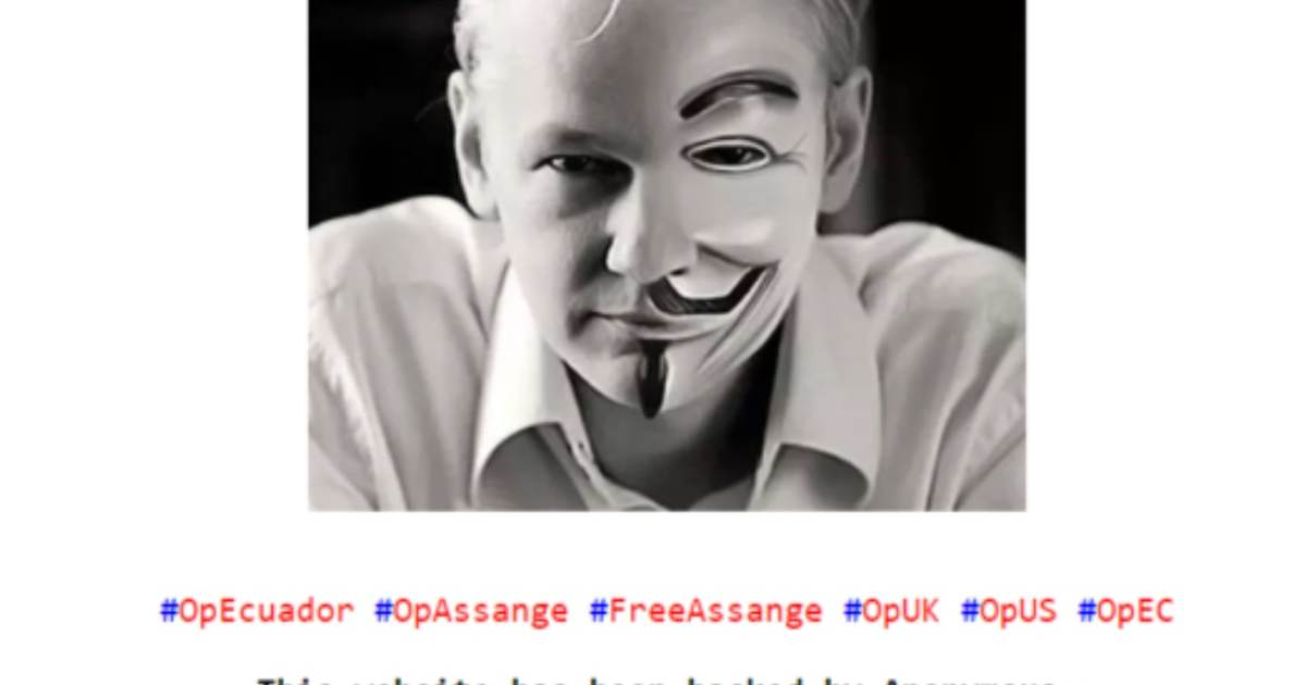 photo image Anonymous Cyber Attacks Continue Against Ecuadorian Government Websites Over Arrest of Julian Assange