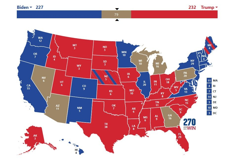 Current Actual Election Result Update: President Trump Has 13 Paths to Win 2020 Election — Biden Has Only 10 Paths to Win