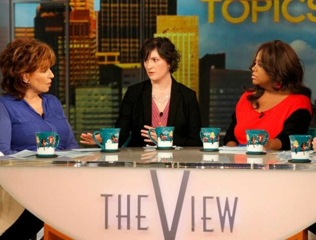 SANDRA FLUKE WITH JOY BEHAR-ABC-LOU ROCCO-AP