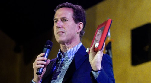 "*Ugh* Rick Santorum Says He's ""Not Sure Republicans Care About Poor People"" (Video)"