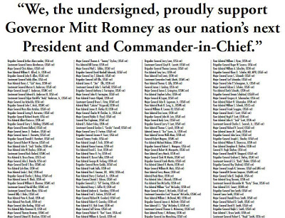 160 generals and admirals ad Obama