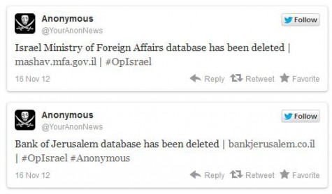 anonymous hackers israel