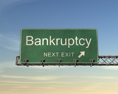bankrupt sign