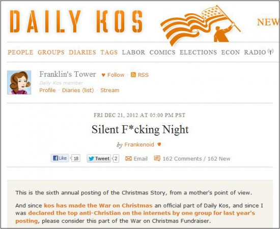 daily kos silent fng night