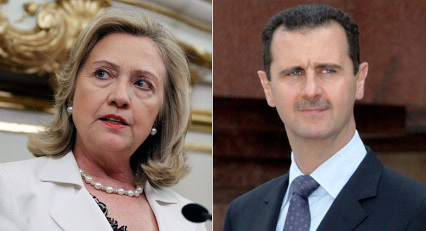hillary clinton assad