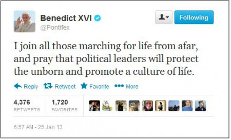 benedict tweet abortion