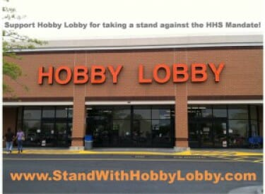 stand with hobby lobby