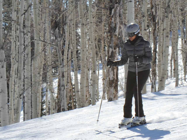 michelle skiing