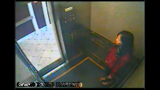 Water Tank Woman Surveillance Video