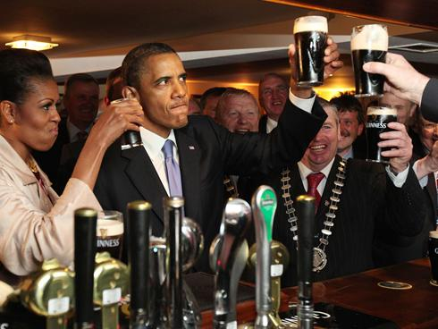 obama michelle green beer