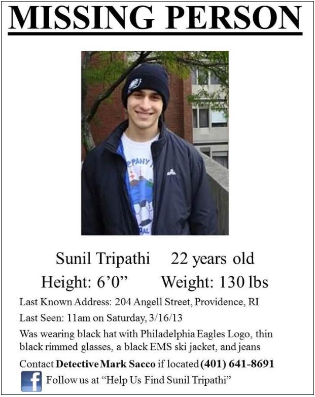 missing person tripathi
