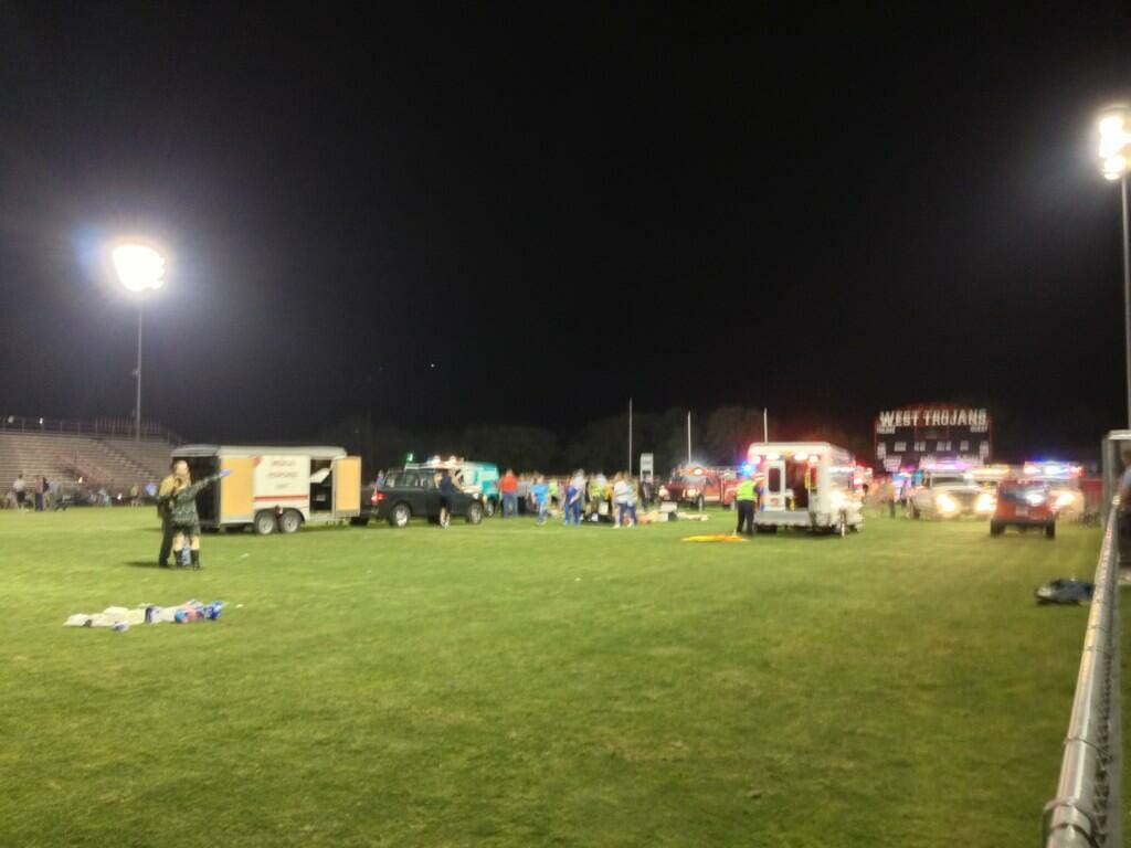 triage football field