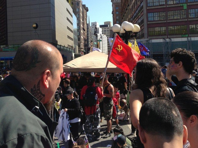 commie flag nyc
